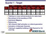 quarter 1 target