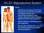ch 27 reproductive system
