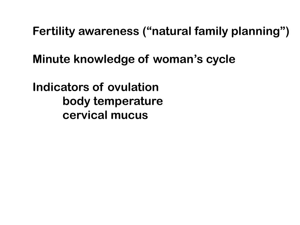 "Fertility awareness (""natural family planning"")"