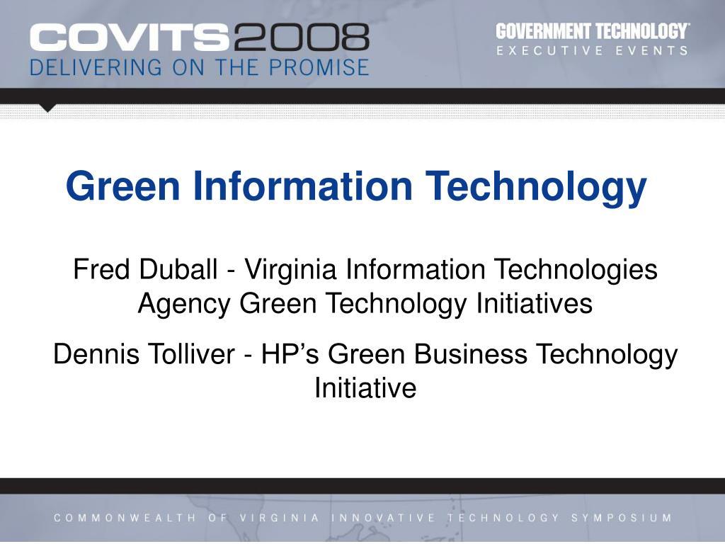 green information technology l.