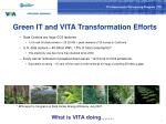 green it and vita transformation efforts