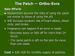 the patch ortho evra13