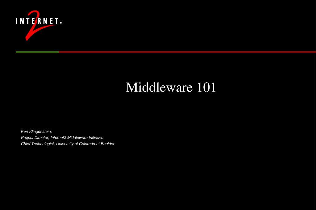 middleware 101 l.