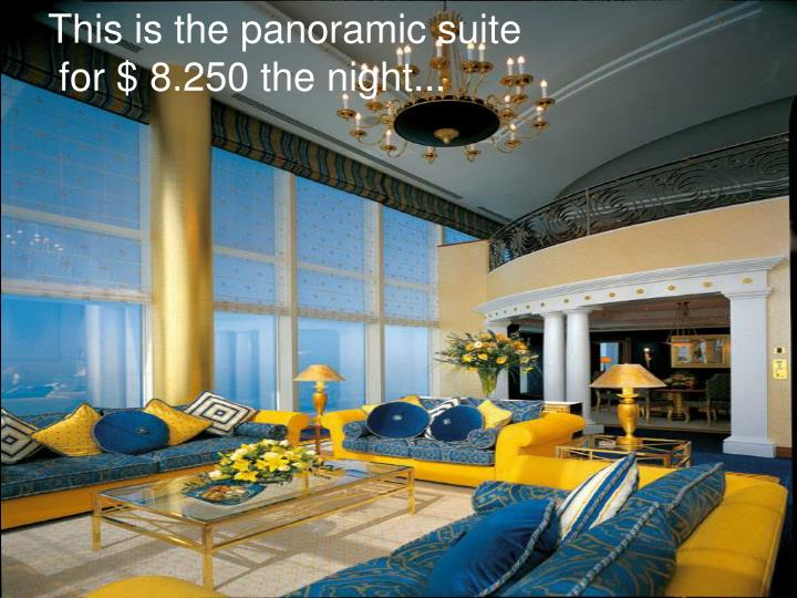 This is the panoramic suite