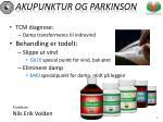 akupunktur og parkinson