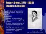 robert owen 1771 1858 utopian socialist