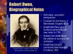 robert owen biographical notes