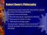 robert owen s philosophy