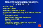 general submission contents 21 cfr 601 12