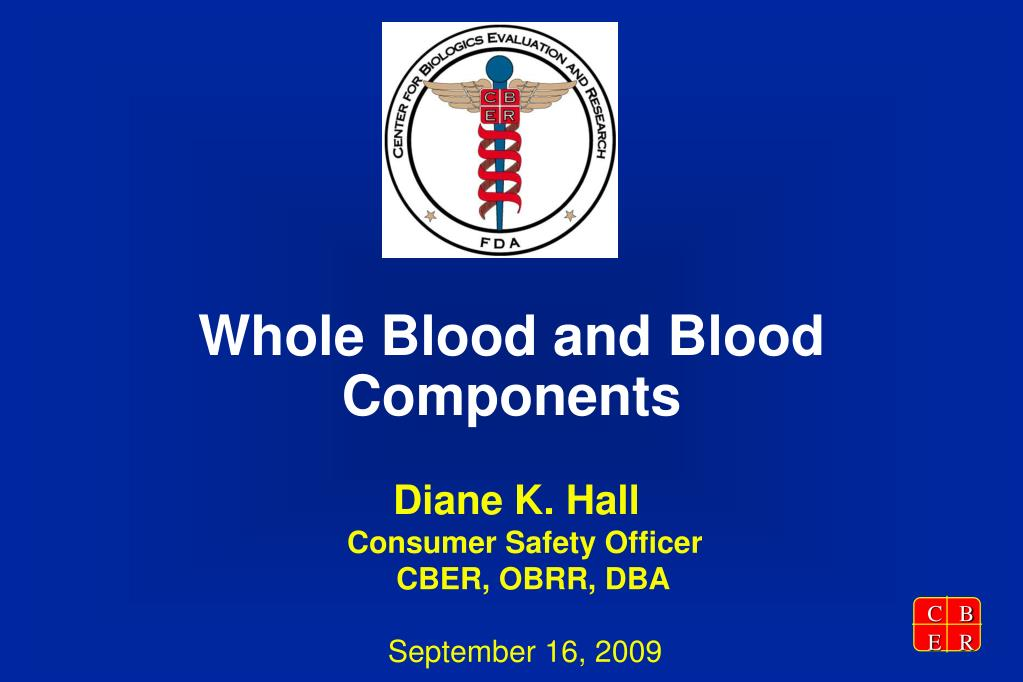 whole blood and blood components l.