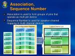 association sequence number