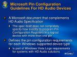 microsoft pin configuration guidelines for hd audio devices