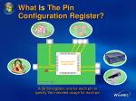 what is the pin configuration register