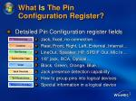 what is the pin configuration register37