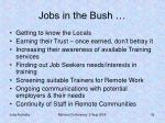 jobs in the bush