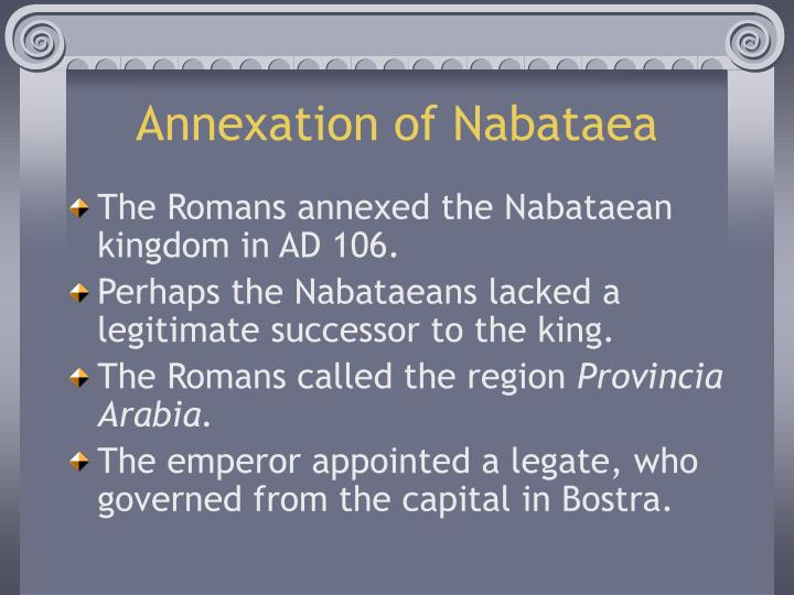 Annexation of nabataea