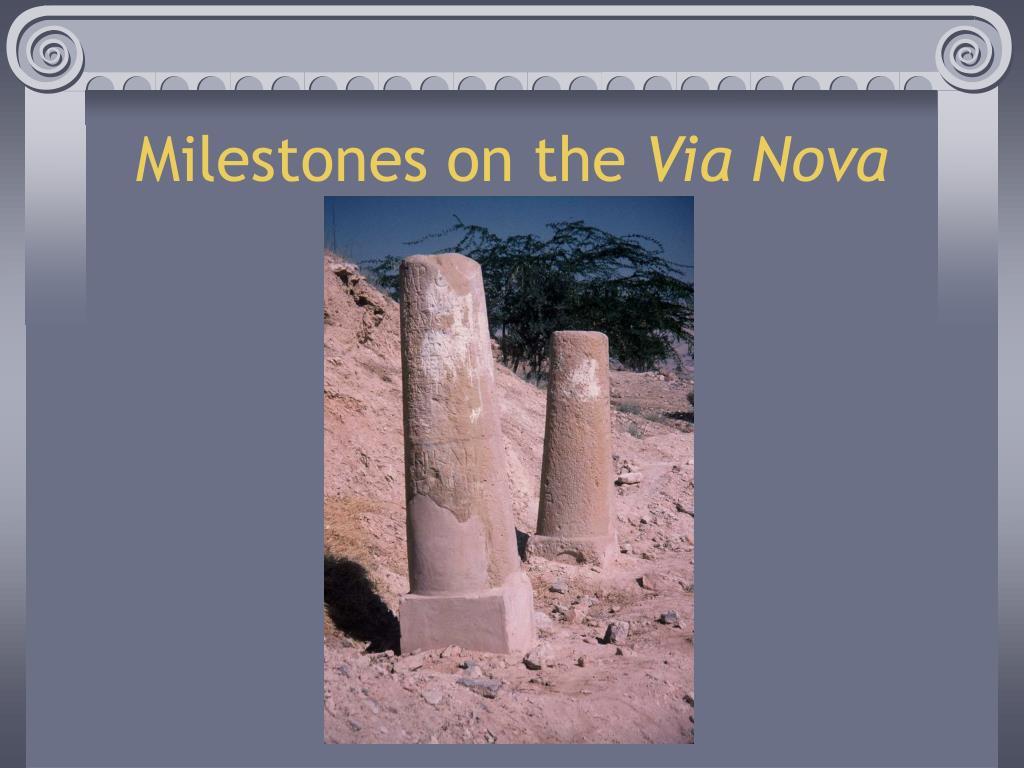 Milestones on the