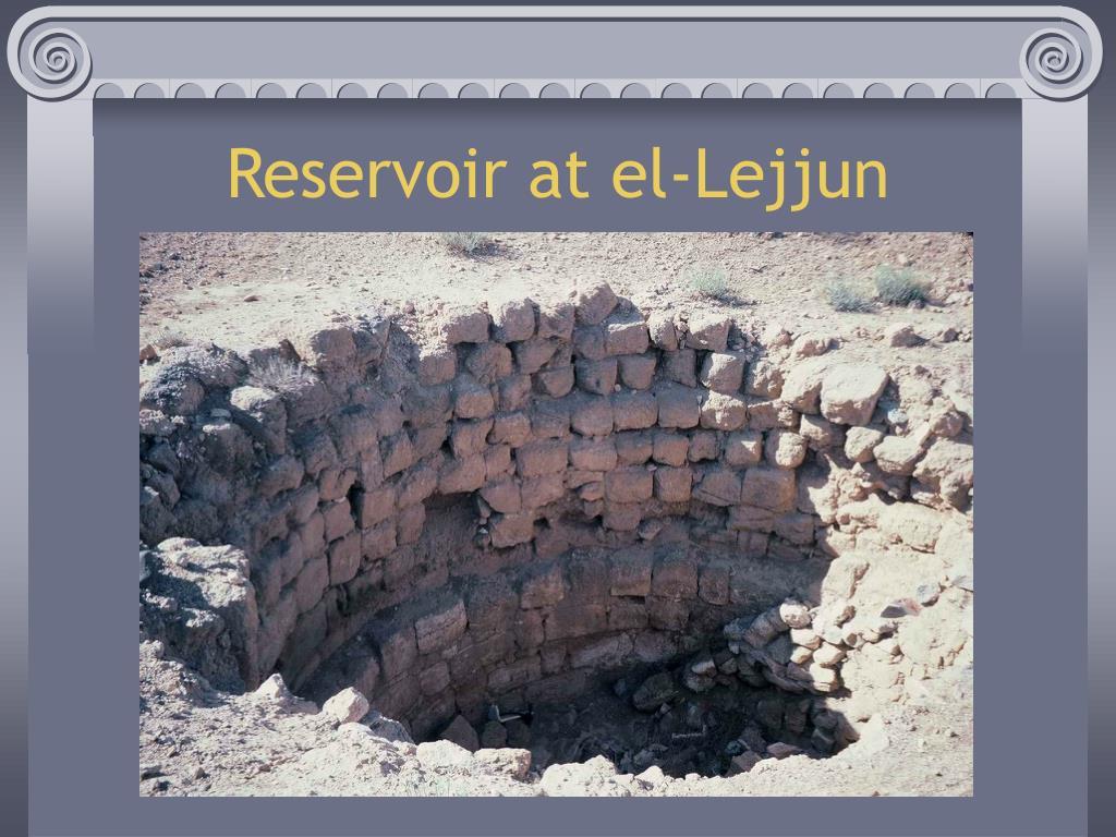 Reservoir at el-Lejjun