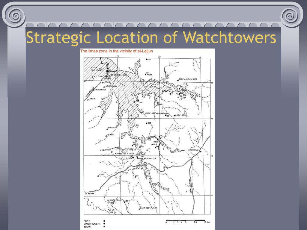 Strategic Location of Watchtowers