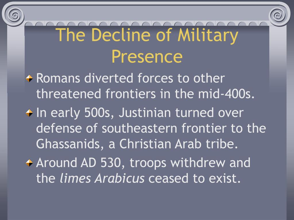 The Decline of Military Presence
