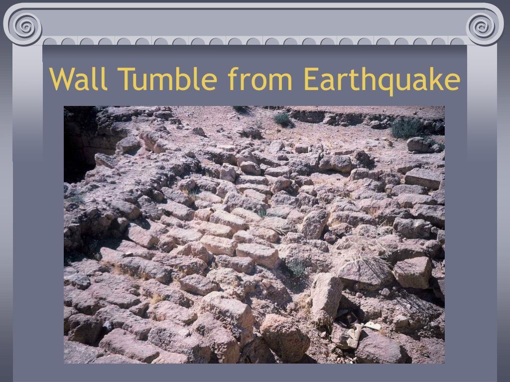 Wall Tumble from Earthquake