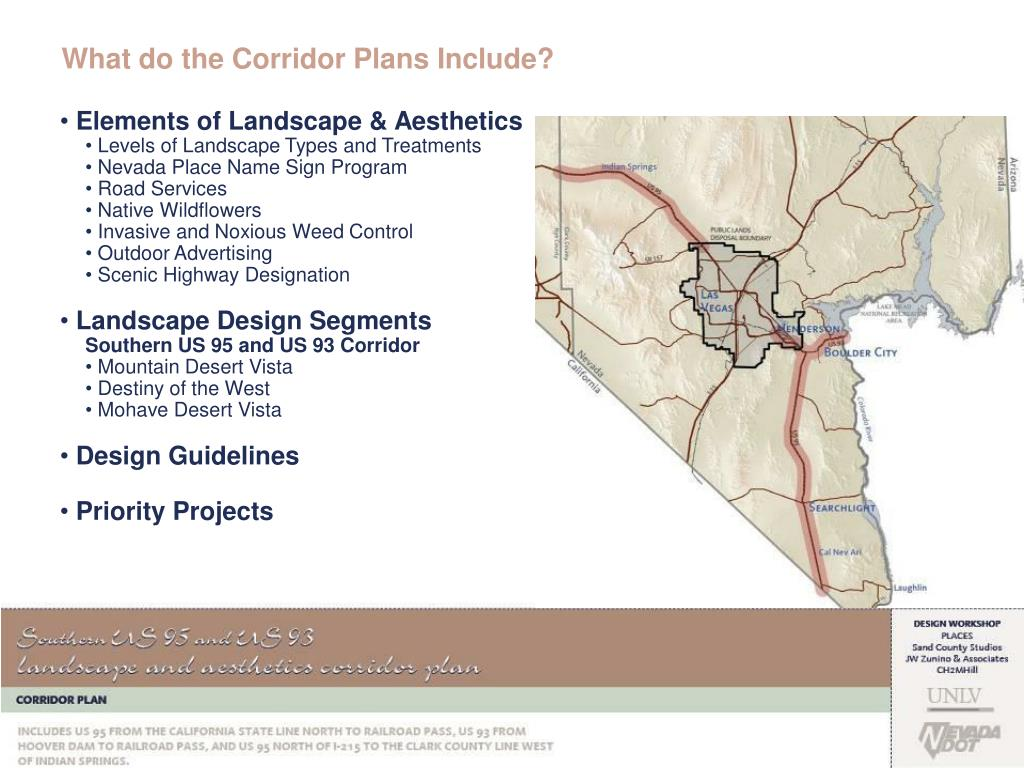 What do the Corridor Plans Include?