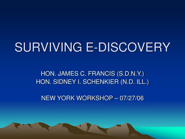 surviving e discovery n.