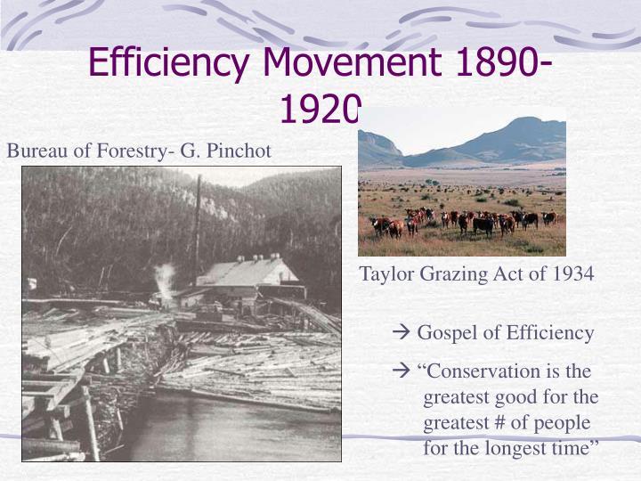 Efficiency movement 1890 1920