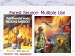 forest service multiple use