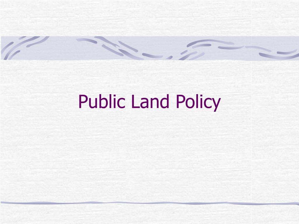 public land policy l.