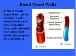 blood vessel walls8