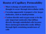 routes of capillary permeability48