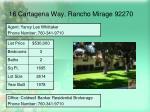 16 cartagena way rancho mirage 92270
