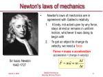 newton s laws of mechanics