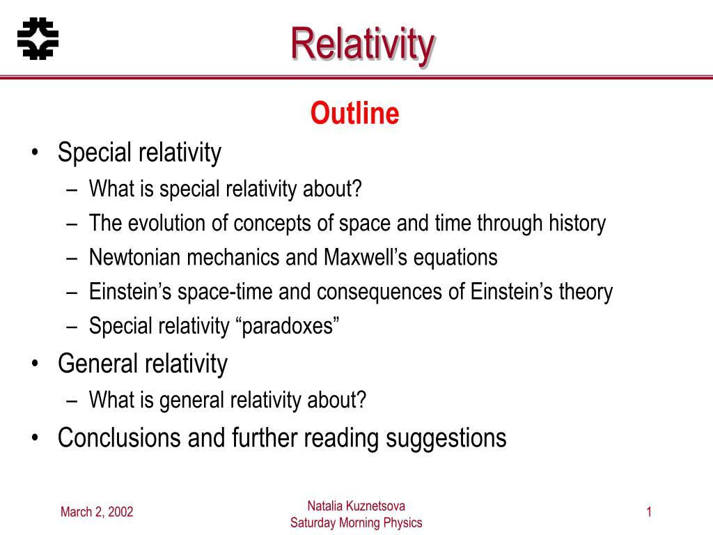 relativity l.