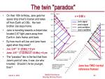 the twin paradox63
