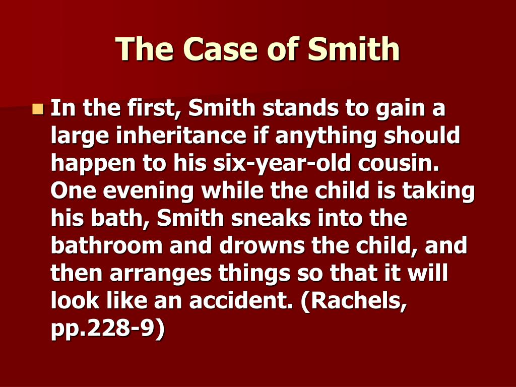 the case of smith l.