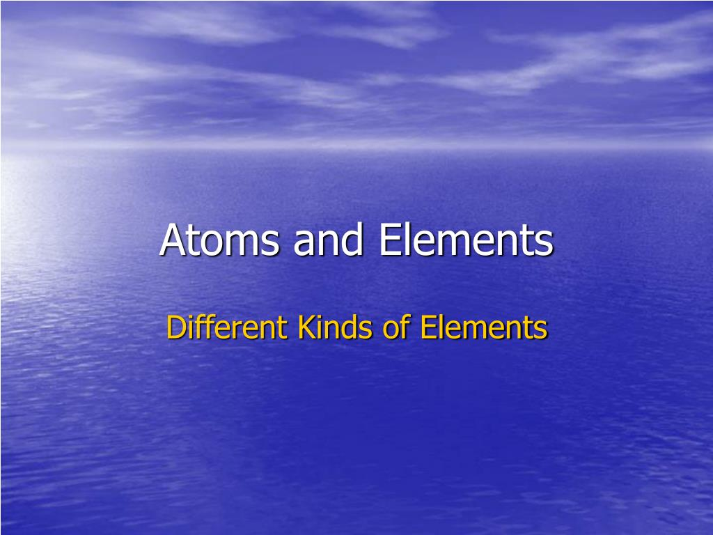 atoms and elements l.