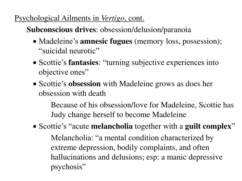 Psychological Ailments in