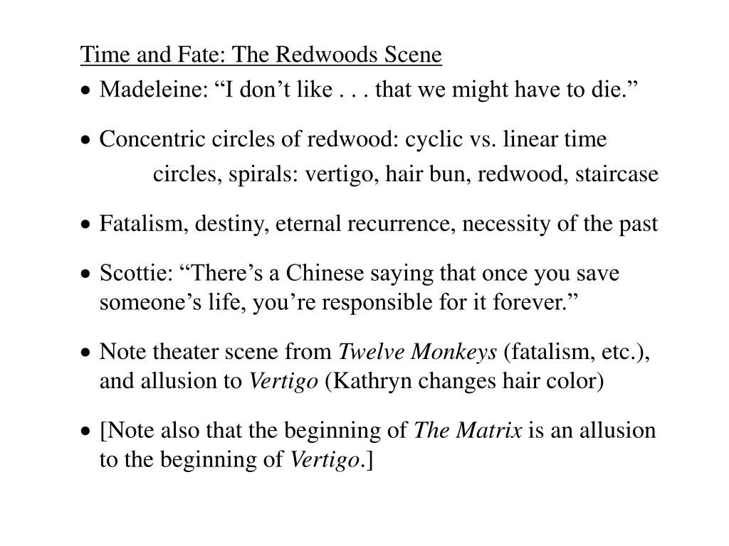 Time and Fate: The Redwoods Scene