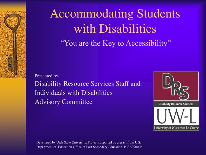 accommodating students with disabilities n.