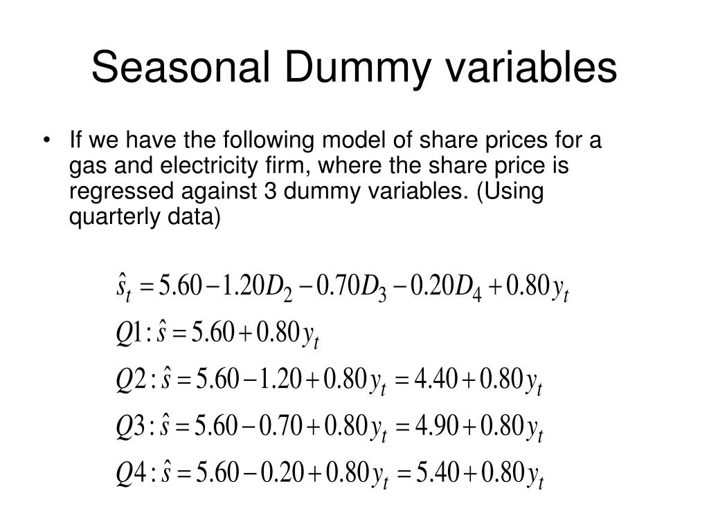 PPT - Dummy Variables PowerPoint Presentation - ID:279643