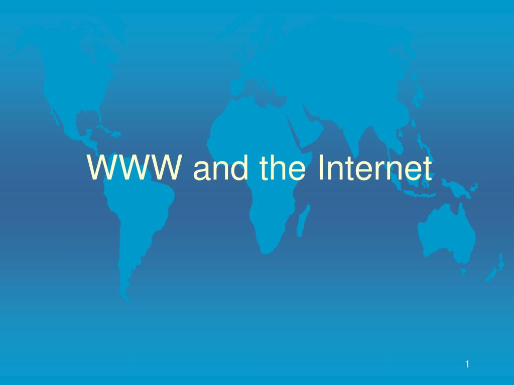 www and the internet l.