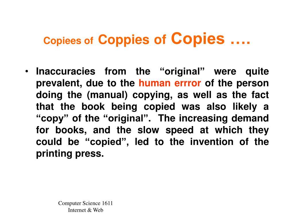 Copiees of