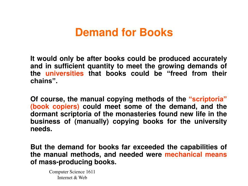 Demand for Books