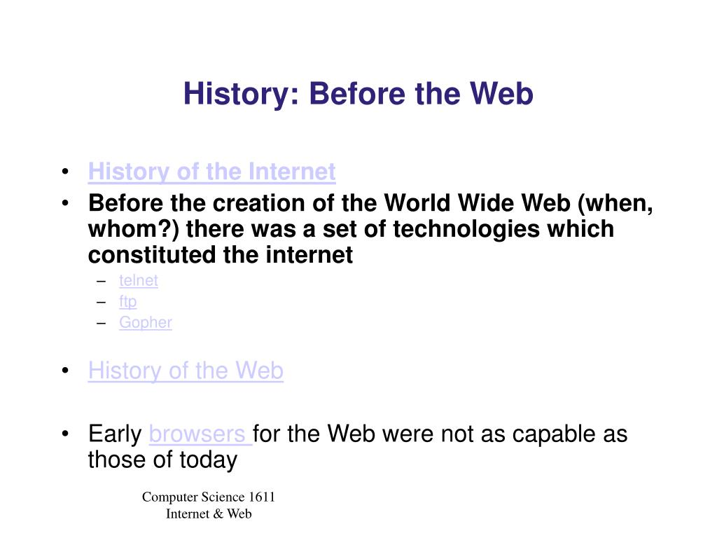 History: Before the Web