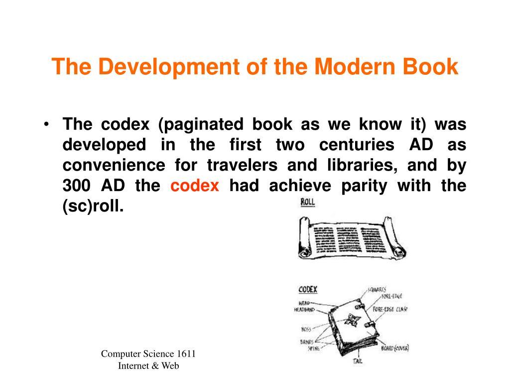 The Development of the Modern Book