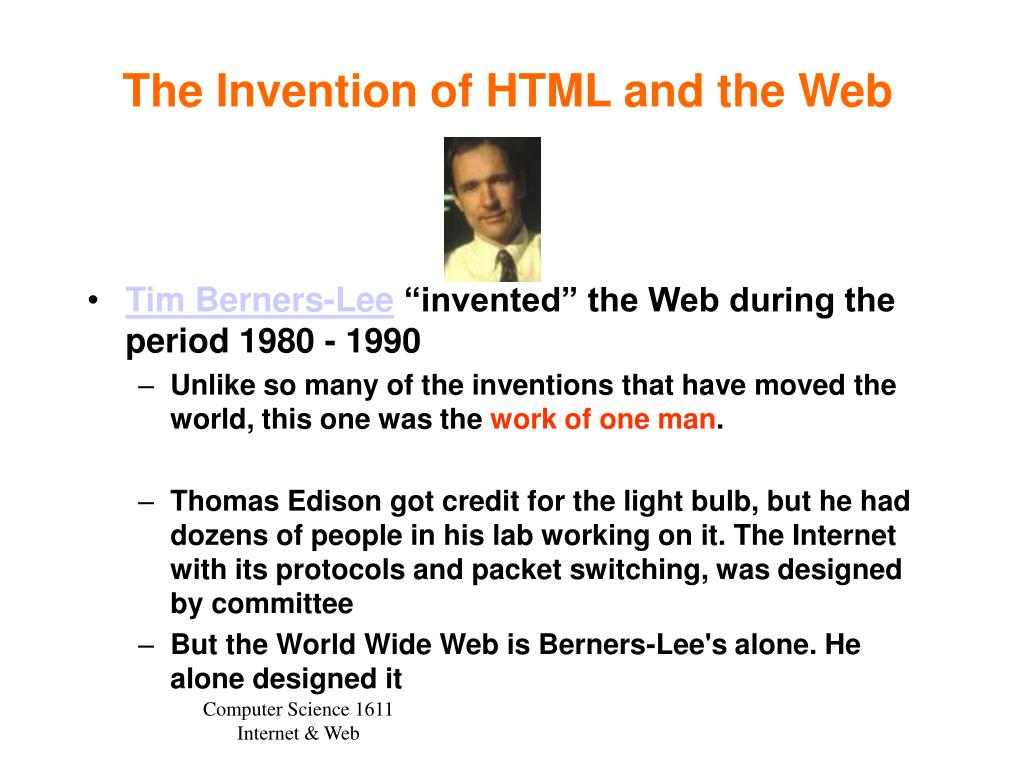 The Invention of HTML and the Web