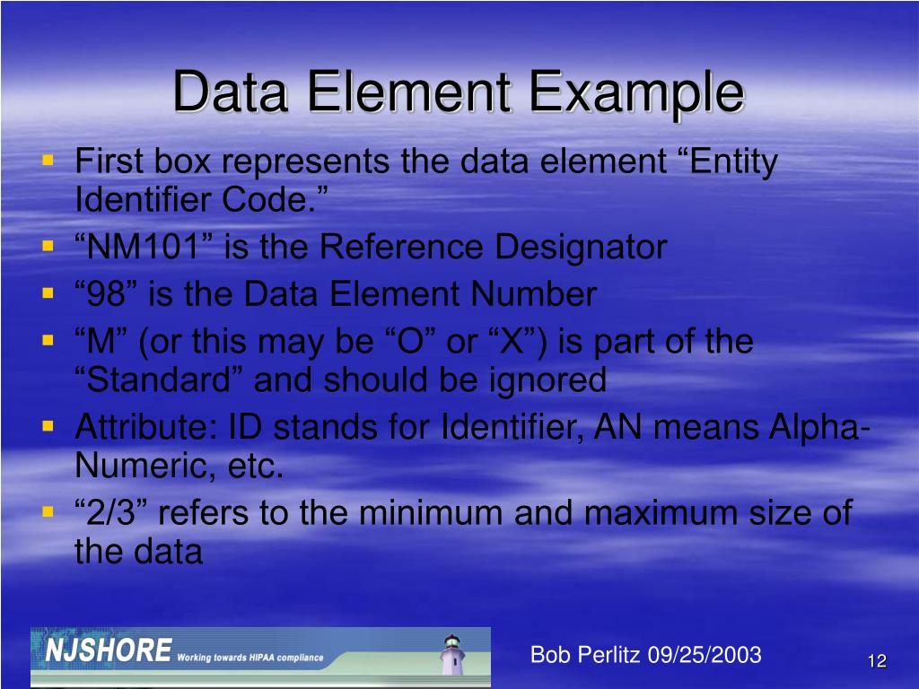 Data Element Example
