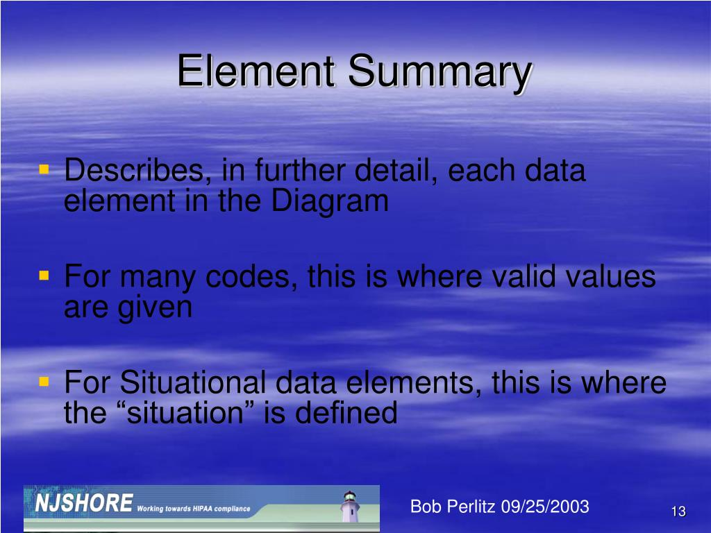 Element Summary